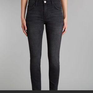 Current Elliot the high waist skinny black jeans